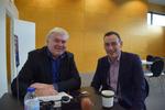 Kein schlechter Name für einen weltweiten Channel-Chef: Paul Hunter von HPE (re) im Interview mit CRN-Chefredakteur Martin Fryba. Jäger oder Farmer ...? (Foto: CRN)