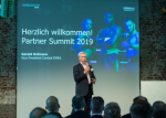 EMEA-Chef Gerald Hofmann begrüßt die Partner zum Veeam Partner Summit in der Klassikstadt Frankfurt (Foto: Veeam)...