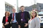 Freuen sich auf einen spannenden Tag: Ulrike Arndt (Securepoint), Jörg Hansen (HT-Support), Sascha Behnsen (Behnsen.IT) und Stella Leal de Gregorio (Securepoint) (Foto: Securepoint)