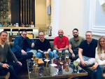 Die Gäste aus Deutschland warten in der Hotel-Lobby auf die Partner aus Zypern: Dennis Möller (CSL Computer), Robert Schenker (Schenker Technologies), Stefan Wehrhahn (Bullguard), Peter Röder (Bullguard), Oktay Cayiroglu (Bullguard) und Ralf Schweitz