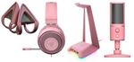 An weiterer Peripherie gibt es das Headset Kraken samt passenden Kitty Ears und Headset-Ständer Base Station Chroma in Pink (Foto: Razer)
