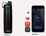 Der vernetzte Wecker reißt nicht nur seinen Besitzer aus dem Schlaf, sondern teilt per WLAN auch anderen Geräten im Haushalt direkt mit, dass der smarte Tag begonnen hat. So meldet sich denn auch direkt die Wasserflasche per Push-Nachricht, dass sie