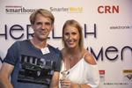 Christian Velroyen (Sandisk) mit Sara Neugebauer (CRN)
