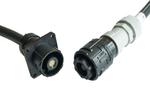 Hirose: Industrie Push-on-Strom-Steckverbinder mit Bajonettverschluss