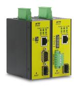 KTI: Serieller Industrie-Konverter mit PoE und SFP-Port