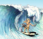 Surfen auf der Angriffswelle