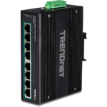 Robuster Industrie-Switch mit acht PoE+-Ports