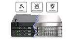 Icy Dock: Robuster Wechselrahmen für bis zu sechs SSDs/HDDs